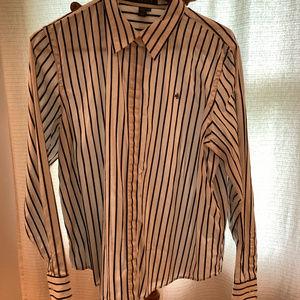 Black and White Ralph Lauren Button Down Shirt